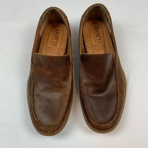 Born Brown Leather Loafers. Size Men's 8.5.
